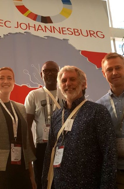 Rick and Mvuyo with Sine and Rasmus from Creative Business Cup, Denmark
